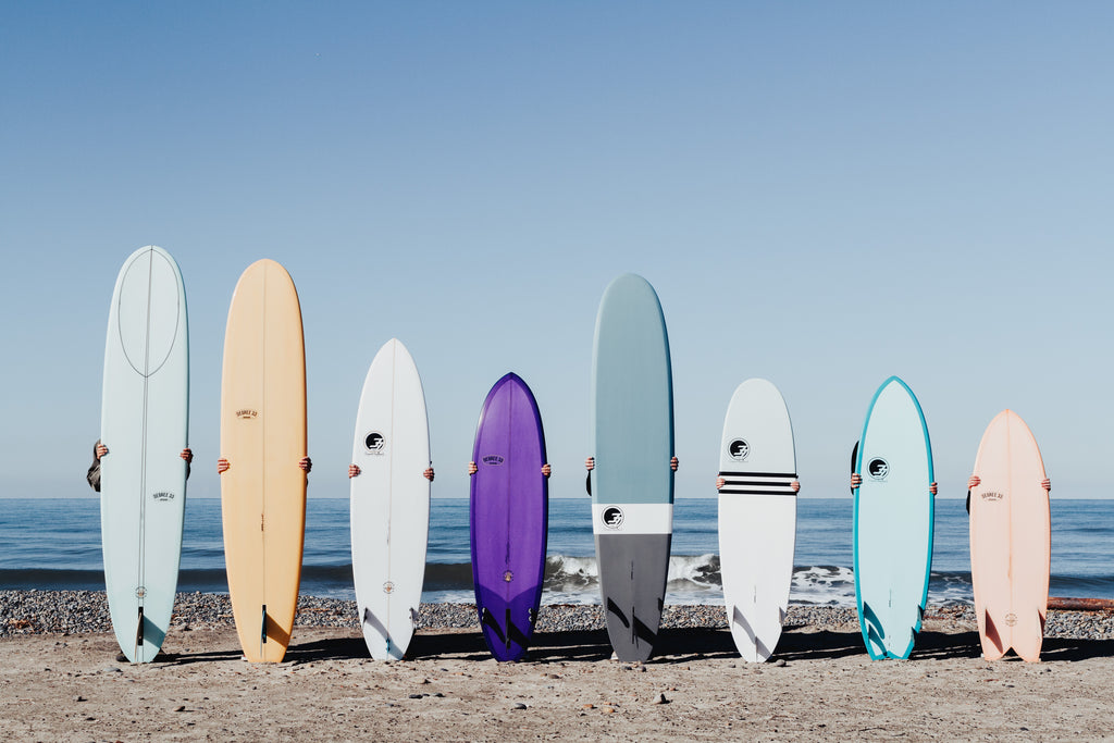 Longboards and surfboards for bgeinner and intermediate