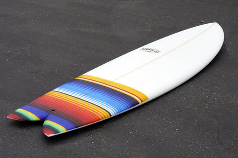 "5'8"" Keel Codfather II Fiberglass with Mexican Blanket Dip"