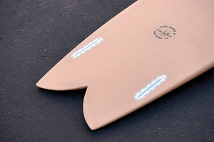 "5'6"" Keel Codfather Fish Surfboard Tan Opaque (Poly)"