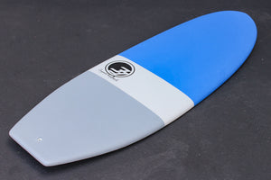5'7 Cloud Shortboard Surfboard Blue Dip (Hybrid Epoxy Softtop)