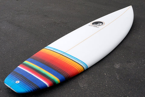 "6'2"" All Terrain Vehicle Shortboard Surfboard with Mexi Tail Patch (Poly)"