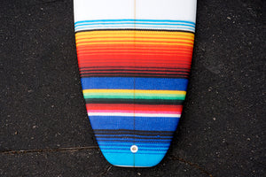 "5'10"" All Terrain Vehicle Shortboard Surfboard with Mexican Blanket Tail Patch (Poly)"