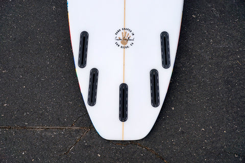 "5'10"" All Terrain Vehicle Shortboard Surfboard with Mexi Tail Patch (Poly)"