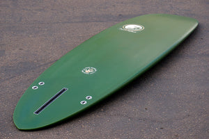 "6'10"" Poacher Surfboard Forest Green Opaque (Poly)"