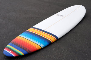 "6'6"" Poacher Surfboard with Mexican Blanket Tail Patch (Poly)"