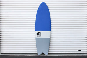6' Codfather Fish Surfboard Blue Dip (Hybrid Epoxy Softtop)