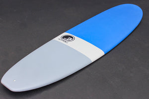 9' Ultimate Longboard Surfboard Blue Dip (Hybrid Epoxy Softtop)