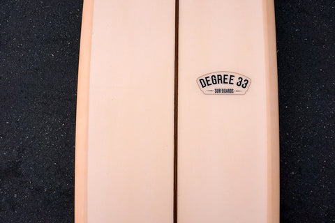 "8'6"" Ultimate Longboard Surfboard with Darkwood Stringer and Coral Resin Tint (Poly)"