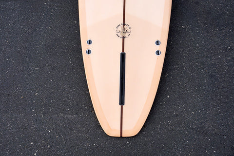 8' Ultimate Longboard Surfboard with Darkwood Stringer and Coral Resin Tint (Poly)
