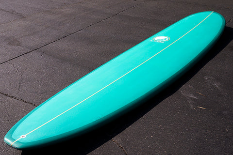 9' Ultimate Longboard Surfboard Green Spray Tint (Poly)