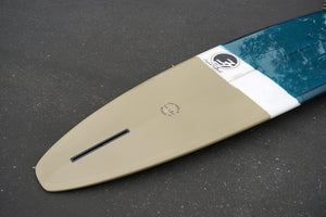 9' Ultimate Longboard Surfboard Sea Blue and Tan Tint Opaque with Gloss (Poly)