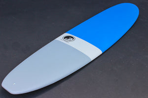 8' Ultimate Longboard Surfboard Blue Dip (Hybrid Epoxy Softtop)