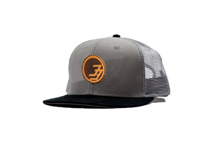 Degree 33 Grey with Leather Circle Logo Snapback Hat