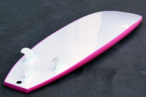 7' Bru Surf Soft Surfboard Pink