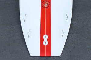 5'7 Cloud Shortboard Surfboard Red Stripe (Poly)