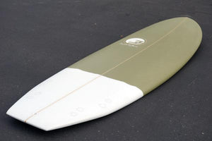 5'7 Cloud Shortboard Surfboard Green Dip  (Poly)