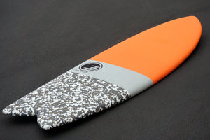 6' Codfather Fish Surfboard Orange Camo (Hybrid Epoxy Softtop)