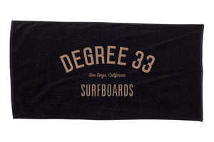 Degree 33 Black Beach Towel