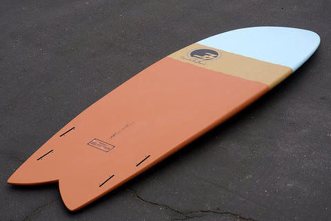 "6'2"" Codfather Fish Surfboard Tri Dip Clay (Epoxy)"