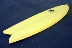 "5'10"" Codfather Fish Surfboard Yellow Tint (Poly)"