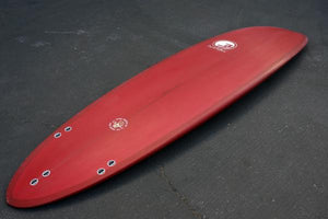 "7'2"" Poacher Surfboard Red Resin Tint (Poly)"