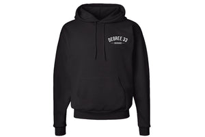 Degree 33 Black Pullover Hoodie with Bus Logo