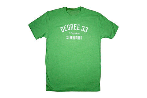 Degree 33 Script Logo Apple Green T-Shirt