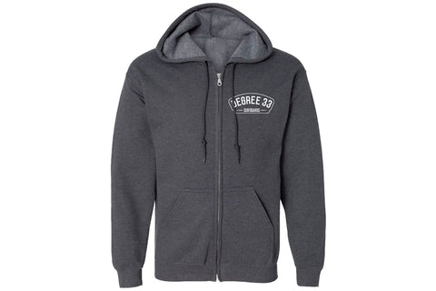 Degree 33 Charcoal Grey Zip Hoodie