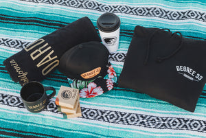 Perfecto Stoke Box (Aloha Print Hat and Black Hoodie)