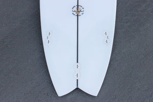 "6'6"" Easy Rider Fish Surfboard Darkwood Stringer (Poly)"