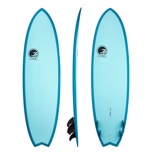 "6'10"" Easy Rider Surfboard Aqua Rail (Epoxy)"