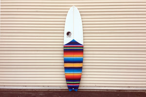 "7'10"" Easy Rider Fish Longboard with Mexican Blanket Cloth (Poly)"