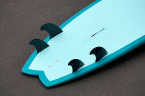 "7'6"" Easy Rider Surfboard Aqua Rail (Epoxy)"