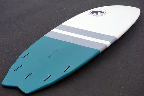 7' Jack Shortboard Surfboard Grey Stripe (Epoxy)
