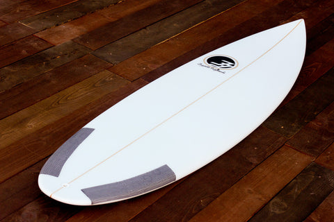 "5'8"" Shortboard ""Optimist"" Fiberglass Deck"