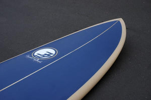 "7'6"" Over Easy Surfboard Blue Gold (Poly)"