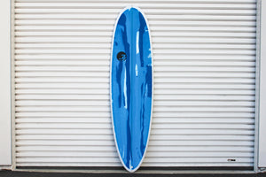 "6'10"" Poacher Surfboard Blue Oside Abstract (Poly)"