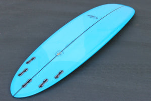 "6'8"" Poacher Surfboard Blue Resin Tint Gloss Polish (Poly)"