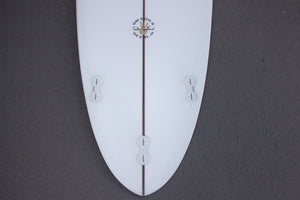 "6'6"" Poacher Surfboard Darkwood Stringer (Poly)"