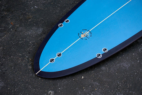 "7'2"" Poacher with Sky & Navy Blue Two Tone with Coral Pinline (Poly)"