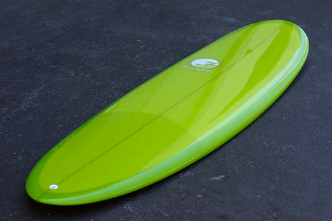 "6'6"" Poacher Surfboard Lime Green Resin Tint Gloss Polish (Poly)"