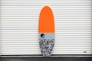 5'7 Cloud Shortboard Surfboard Orange Camo (Soft Top Epoxy) 2019
