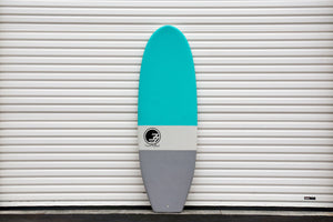 5'7 Cloud Shortboard Surfboard Aqua Dip (Hybrid Epoxy Softtop)