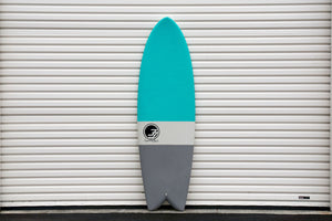 6' Codfather Fish Surfboard Aqua Dip (Hybrid Epoxy Softtop)