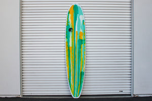 "8'6"" Ultimate Longboard Surfboard Green Oside Abstract (Poly)"