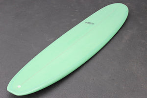 9' Ultimate Longboard Surfboard (Poly) - Lime Resin Tint Gloss & Polish