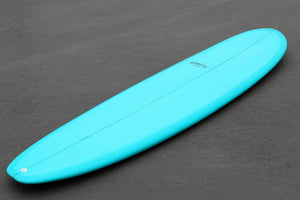 8' Ultimate Longboard Surfboard with Dark Aqua Resin Tint (Poly)