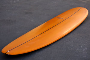 9' Ultimate Longboard Surfboard with Orange Reverse Cutlap Resin Tint (Poly)