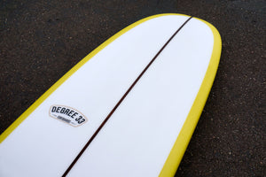 9' Ultimate Longboard Surfboard with Mustard Reverse Cutlap Resin Tint (Poly)
