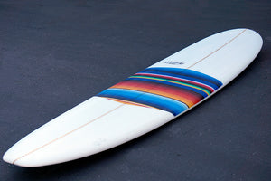 8' Ultimate Longboard Surfboard with Mexican Blanket Deck Patch (Poly)